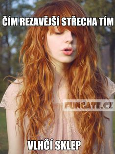 Čím rezavější střecha tím… Water Collection, Redheads, Red Hair, Character Inspiration, Haha, Comedy, Funny Memes, Sexy, Photography