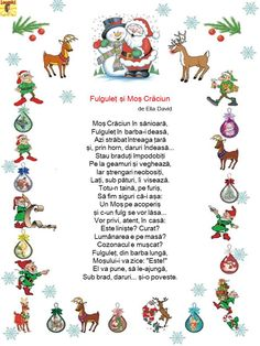Cele mai frumoase poezii de Crăciun - Logorici Craft Activities For Kids, Winter Activities, Projects For Kids, Emotions Activities, Preschool Christmas Crafts, Kids Poems, Christmas Books, Kids Reading, Kindergarten Worksheets