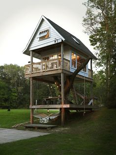 Add to the dream house checklist: fantasy treehouse. Make it a yoga/meditation/writing room or relaxation space
