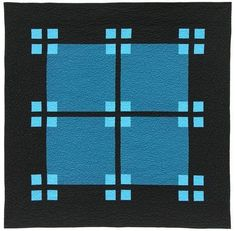 "Nightfall - Modern Quilt Guild - ""The color work of this quiet design is both modern and classic.""  Notice how pale blue tends to ""float"" in front of the rest of a design."