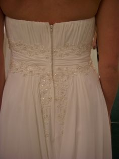 "I said ""YES!"" to this dress. David's Bridal V9743 Back"