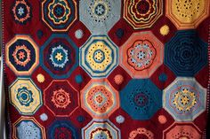 Sunny Seaside Mosaic Afghan by MossyOwls, via Flickr