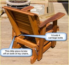 Here's a picture showing the seat base dimensions and where the legs will go. Adirondack Chair Plans, Outdoor Furniture Plans, Porch Furniture, Outdoor Glider Chair, Diy Chair, Porch Chairs, Outdoor Chairs, Porch Glider Plans, Picnic Table Plans