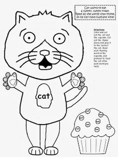 If You Give A Cat a Cupcake…..cupcake line drawing