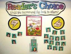 Readers choice interactive bulletin board