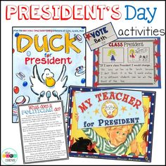 Fun activities, lesson plans, and graphic organizers for President's Day.