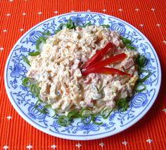 Ševcovský salát :: Domací kuchařka - vyzkoušené recepty Slovak Recipes, Pasta Salad, Grains, Recipies, Rice, Cooking Recipes, Treats, Chicken, Baking