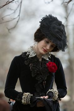 lucille's funeral fashion | Crimson Peak in theaters 10.16.15 - Can we take a moment to appreciate her hat.