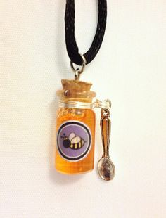 Royal Jelly Honey Glass Bottle Charm  Available for purchase here: https://www.etsy.com/listing/115195223/royal-jelly-honey-glass-bottle-charm?ref=v1_other_2