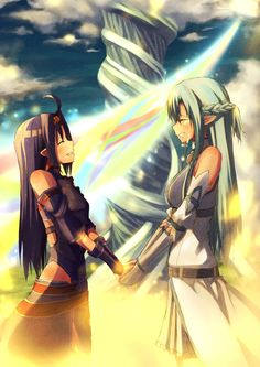 Sword Art Online, Yuuki & Asuna, by bright (long-ago)