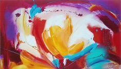 Abstract schilderij 'Passion' ( vrolijke, warme kleuren )