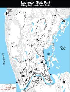 Ludington State Park Michigan Map