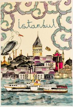 decocinasytacones: CUADERNO DE VIAJE DIA 4 - Estambul / TRAVEL NOTEBOOK DAY 4 - Istanbul