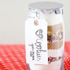 Pretzel Cookies in a Jar: a holiday tradition around my house. Just add an egg and some butter.