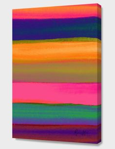 """""""Desert Sunset"""", Numbered Edition Canvas Print by Rebecca Allen - From $69.00 - Curioos"""