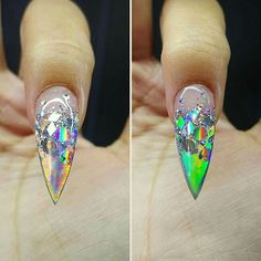 Hologram nails design ( up close )