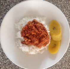 Henrietta Esi's Corned Beef Stew with rice on April 22, 2014.