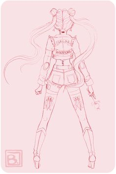 Sailor Moon fighting evil by moonlight