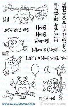 Your Next Stamp LIFE'S A HOOT Clear Stamp Set CYNS290 at Simon Says STAMP!