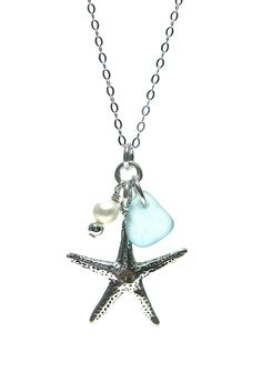 Starfish and Pearl Chain Necklace – Fishers Finery