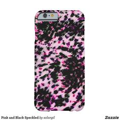 Pink and Black Speckled Barely There iPhone 6 Case