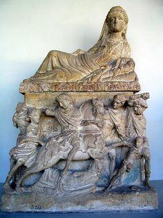 Etruscan urn in Perugia