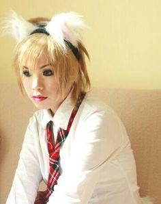 White Fur Cat Ear Headband, Faux Fur Cat Ears, Cat Ear Headband, Inuyasha Cosplay, Inuyasha Costume, Inuyasha headband by qwear01