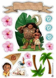 Moana Party, Moana Themed Party, Barney Birthday, 3rd Birthday, Birthday Parties, Moana Printables, Moana Centerpieces, Moana Theme Birthday, Festa Moana Baby