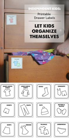 Printable Drawer Labels for Organization for Kids
