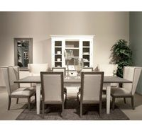 Harbor White & Gray Extension Dining Table
