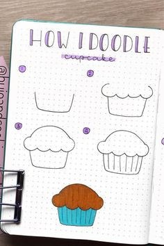 If you're changing up your theme or just want to add some decoration to your spreads this month, check out these super fun step by step food themed doodle tutorials to try in your bullet journal! Easy Doodles Drawings, Easy Doodle Art, Cute Easy Drawings, Art Drawings For Kids, Simple Doodles, Drawing Ideas, Drawing Tips, Bullet Journal Banner, Bullet Journal Writing