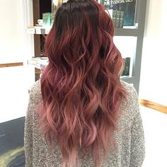 Resultado de imagen para dusty rose hair color