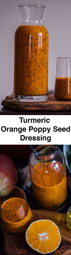 Turmeric Orange Poppy Seed Dressing is tangy, slightly sweet and crunchy. You…