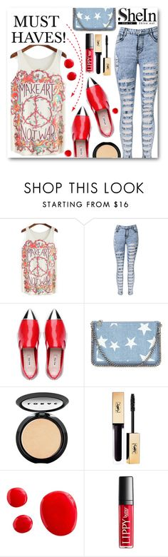 """""""Must Haves!"""" by kpopmember ❤ liked on Polyvore featuring WithChic, STELLA McCARTNEY and LORAC"""