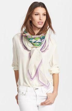 Roberto Cavalli Cashmere & Silk Scarf available at #Nordstrom