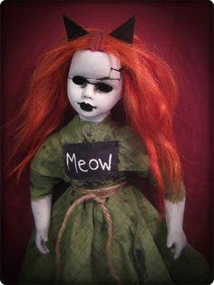 ebay id: bastet2329  creepy doll dolls gothic halloween kitty cat