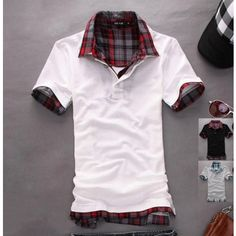 $ 9.82+ free shipping! Stylish Casual Short Sleeve Sleeves T Polo T-Shirt Tee Shirt Top For Men Boys Teenagers Teenager