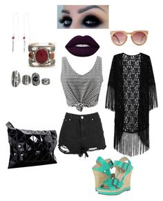 """Goth up your summer"" by kathryn-robin-temir on Polyvore featuring WithChic, Michael Antonio and Lime Crime"