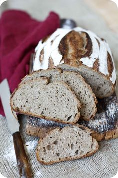 Wheat-rye bread with sourdough - a wonderfully juicy bread! - Wheat-rye bread with sourdough – a wonderfully juicy bread! Baking Muffins, Baking Cupcakes, Bread Baking, Holiday Baking, Christmas Baking, Baking For Beginners, Kenwood Cooking, Cute Baking, Rye Bread