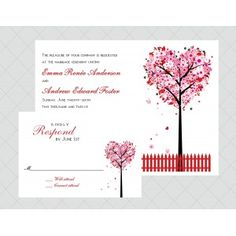 Heart Tree Wedding Invitations - Style 474...this is my favorite I think