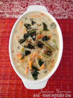 Avial - a mixed vegetable stew with coconut and cumin  #coconutrecipes #tambrahmrecipes #tamilbrahmincooking