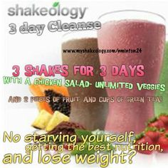 FREE 3 day #Shakeology #Cleanse when you invest in your #nutrition