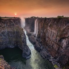 Photo by @chamiltonjames // Sponsored by @CanonUSA. See mother nature in a whole new light. // Victoria Falls is the greatest waterfall on Earth. It straddles the border between Zambia and Zimbabwe and from just about every angle it looks awesome.