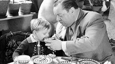 Schauspieler Götz George und Vater Heinrich George: 1942