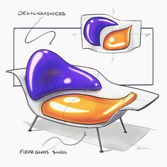 """1,975 Likes, 79 Comments - Nicholas Baker (@nickpbaker) on Instagram: """"don't know why, but for some reason this chaise lounge looks quite appetizing . . . sketched on an…"""""""