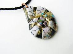 Nautilus inspired pendant polymer clay nautilus by Feelingfimo