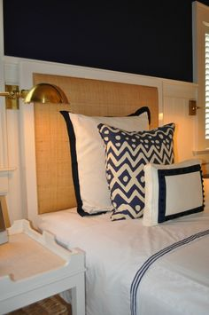 Oomph Harbour Island Headboard-Available in Three Different Sizes Beach House Bedroom, Home Bedroom, Bedroom Decor, Bedroom Ideas, Master Bedroom, White Headboard, Queen Headboard, Headboard Redo, White Bedding