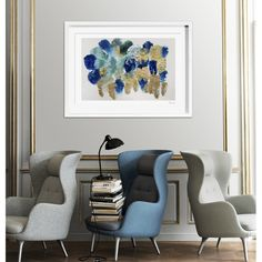 Westlake Framed Print, Oliver Gal - Love the art, would look great in bedroom if I go with a navy duvet!
