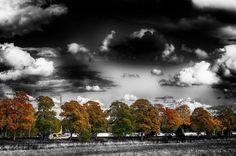 Autumn #autumn #fall #sweden #hejöstergötland #wu_sweden #nikon_photography #nikonphotography #östergötland #d500 #colors #blackandwhite #dashofcolor #channel #boat #linköping #götakanal #clouds #drama #ig_sweden