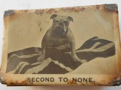 VINTAGE WW2 CELLULOID MATCH BOX HOLDER COVER VESTA BRITISH BULL DOG ARMY NAVY